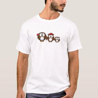Família da coruja camiseta