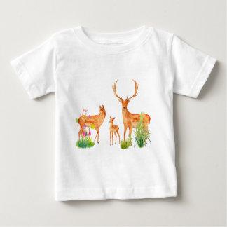 Família dos cervos de Fallow da aguarela Camisetas