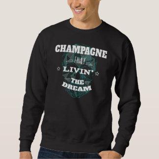 Família Livin do CHAMPANHE o sonho. T-shirt