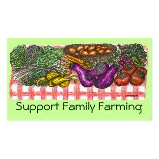 Família que cultiva o cartão de visita
