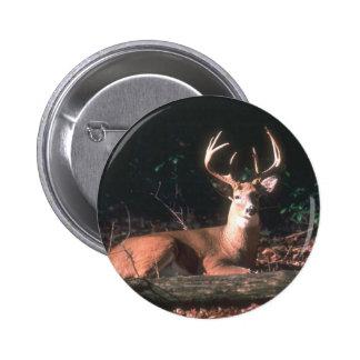 Fanfarrão atado branco dos cervos bóton redondo 5.08cm