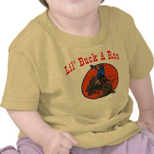 Fanfarrão de Lil um círculo Bucking do cavalo do Camisetas