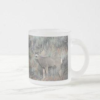 Fanfarrão dos cervos de mula de Utá Caneca De Café Vidro Jateado