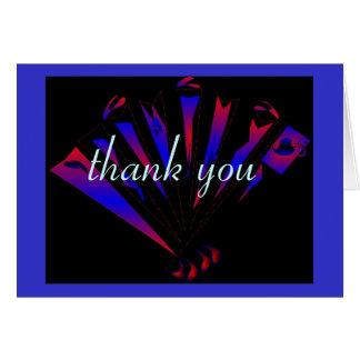 """Fantasia azul """"obrigado você"""" carda - customizável cartão"""