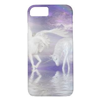 Fantasia bonita do unicórnio e do Pegasus Capa iPhone 7
