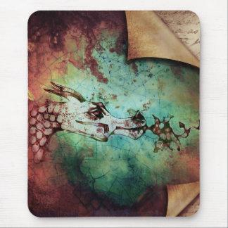 Fantasia de respiração do dragão do fogo bonito da mousepad