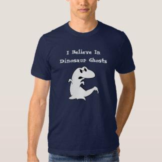 Fantasma do dinossauro camisetas