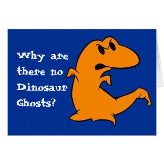 Fantasma do dinossauro cartão