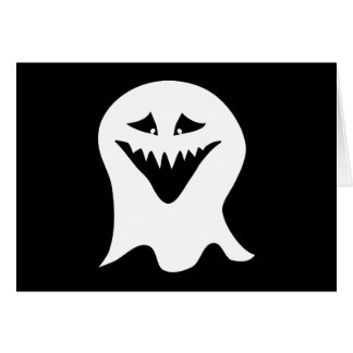 Fantasma do Ghoul. Preto e branco. Cartão