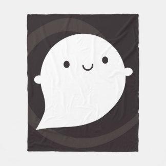 Fantasma pequeno feliz cobertor de lã
