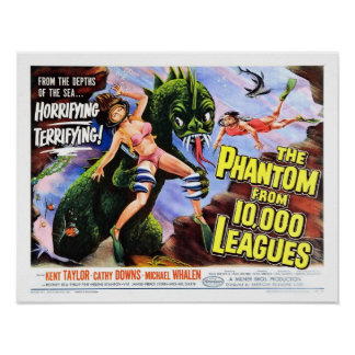 """Fantasma poster de 10.000 ligas"" Pôster"
