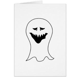 Fantasma. Preto e branco. Cartão