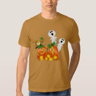 Fantasmas e abóboras do Dia das Bruxas engraçado Tshirt