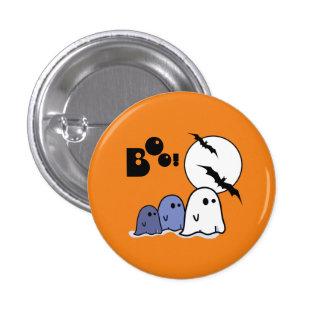 Fantasmas pequenos engraçados. Botões do presente Bóton Redondo 2.54cm