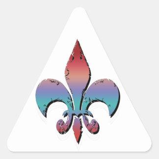 Farinha De Lis Adesivo Triangular