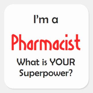 farmacêutico adesivo quadrado