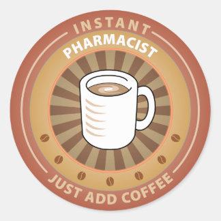 Farmacêutico imediato adesivos redondos