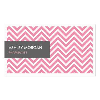Farmacêutico - luz - ziguezague cor-de-rosa de cartão de visita