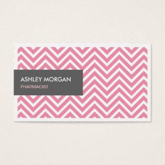 Farmacêutico - luz - ziguezague cor-de-rosa de cartão de visitas