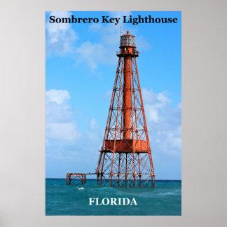Farol chave do Sombrero, poster de Florida