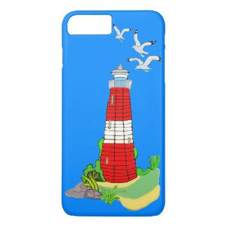 Farol com capas de iphone das gaivotas