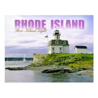 Farol cor-de-rosa da ilha, Newport, Rhode - ilha Cartão Postal