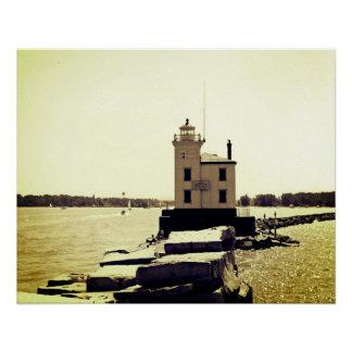 Farol do Lago Erie Póster