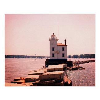 Farol do Lago Erie Poster Perfeito