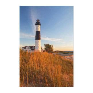 Farol grande do ponto do Sable no Lago Michigan 3 Impressão Em Canvas