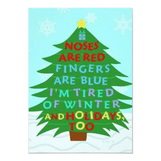 Farsa engraçada de Bah após a festa natalícia do Convite 12.7 X 17.78cm