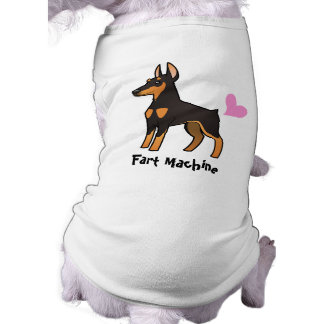 Fart a máquina (o Pinscher do Doberman) Camisa Sem Mangas Para Cachorro