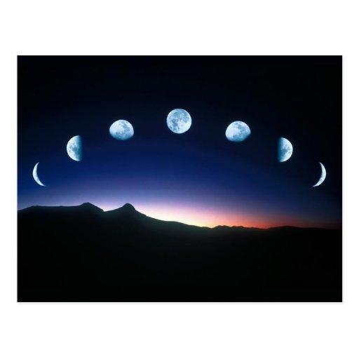 Fases da lua cartoes postais
