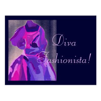 Fashionista da diva no azul