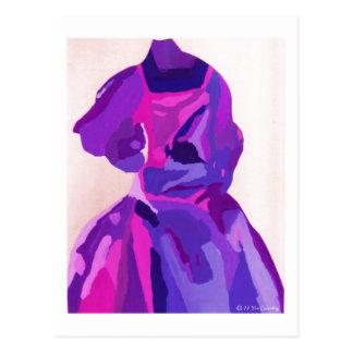 Fashionista da diva no azul cartão postal