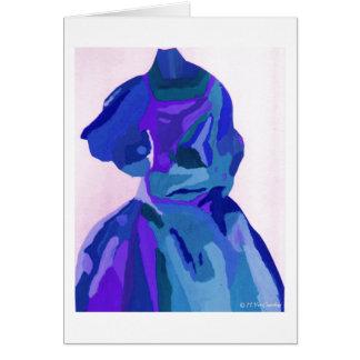 Fashionista da diva no azul mim cartão comemorativo