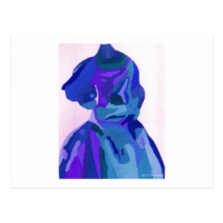 Fashionista da diva no azul mim cartoes postais