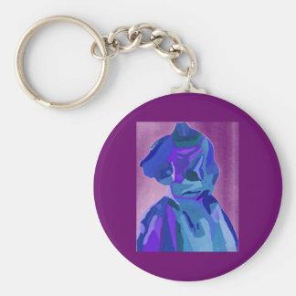 Fashionista da diva no azul mim chaveiros