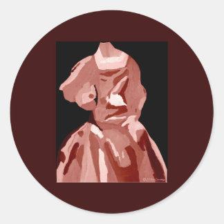 Fashionista da diva no ponto morto adesivos em formato redondos