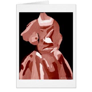 Fashionista da diva no ponto morto cartão comemorativo