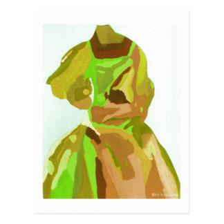 Fashionista da diva no primavera cartao postal