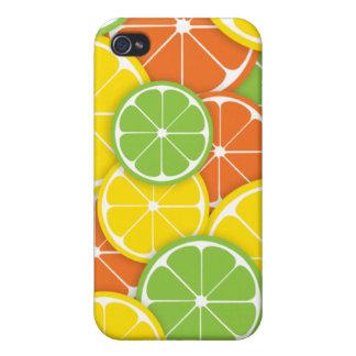 Fatias alaranjadas do limão do limão dos citrinos capas iPhone 4