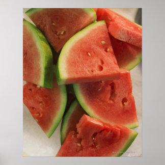 Fatias de melancia posters