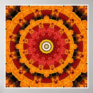 Fatias decorativas de laranja poster