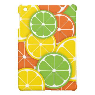 Fatias redondas suculentas da laranja do limão do capa iPad mini