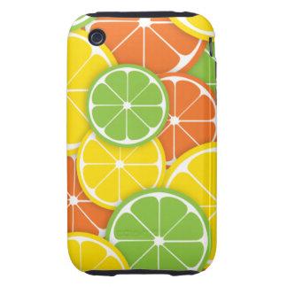 Fatias redondas suculentas da laranja do limão do capas para iPhone 3 tough