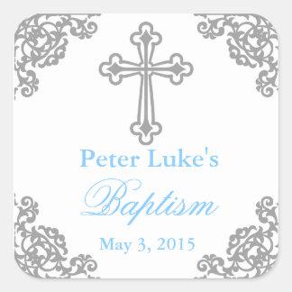 Favor de partido elegante Labels|Tags do baptismo Adesivo Quadrado