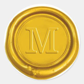 Favor inicial corajoso do casamento do monograma adesivo
