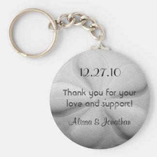 Favor personalizado do casamento do anel chave de chaveiro