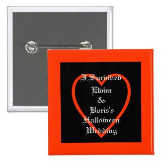Favor personalizado do casamento do Dia das Bruxas Pins