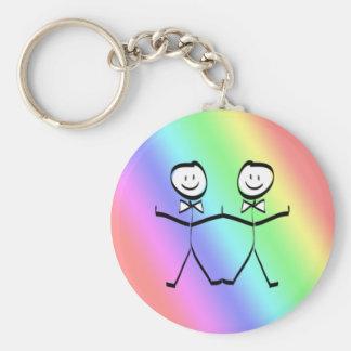 Favores alegres do casamento do orgulho do arco-ír chaveiro